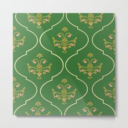 Green Tapestry Metal Print