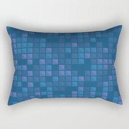 november blue geometric pattern Rectangular Pillow