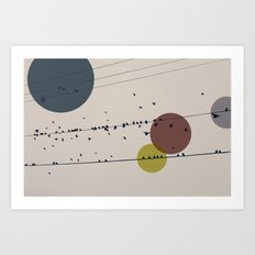 Chaos On The Wires Art Print