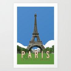 Paris Travel Poster - Vintage Style Art Print