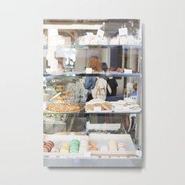 Bakery Window  //  Paris, France Metal Print
