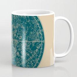 Constellations of the Northern Hemisphere Vintage Paper and Emerald Coffee Mug