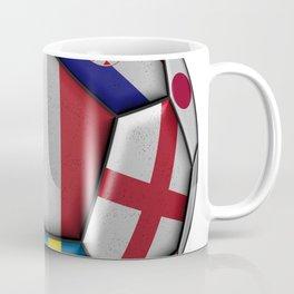 Russia 2018 - football ball with various flags Coffee Mug
