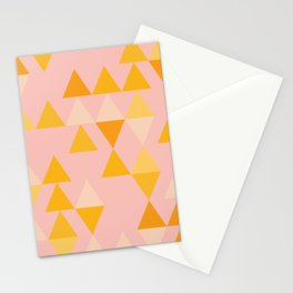 Triangles in Soft Pastels Stationery Cards
