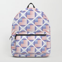 Mix of flag  : usa and scotland 2 with color gradient Backpack