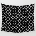 Clover Quatrefoil Pattern: Black & White by jsdavies