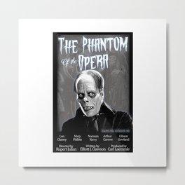 Opera Phantom 1925 Classic Horror Movie Fan Art Poster - Public Domain - Darkling Designs Inc 0008WHBG Metal Print