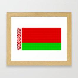 Belarus Flag (Patchwork Look) Framed Art Print