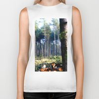 woods Biker Tanks featuring Woods by madbiffymorghulis