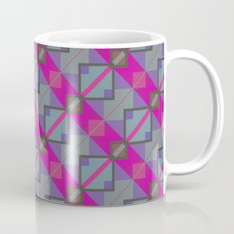 Grey Purple Aztec Pattern Coffee Mug