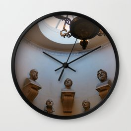 Scottish national gallery stairs and busts Edinburgh Scotland Wall Clock