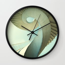Spiral staircase in pastel tones Wall Clock