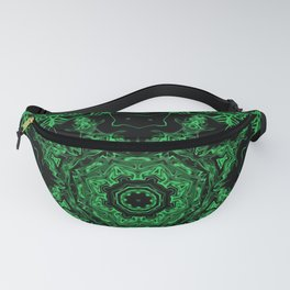 Green and Black Kaleidoscope 3 Fanny Pack