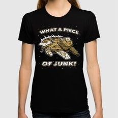 What a Piece of Junk! Black MEDIUM Womens Fitted Tee