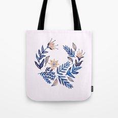 Blue Wreath Tote Bag