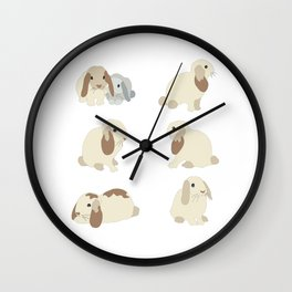 Cute Bunnies Wall Clock