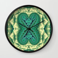 Tribal Twin Hearts Wall Clock