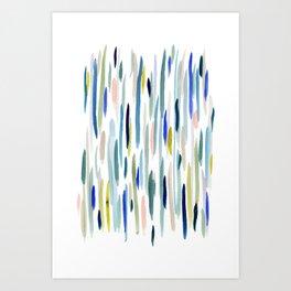 River Strokes Art Print