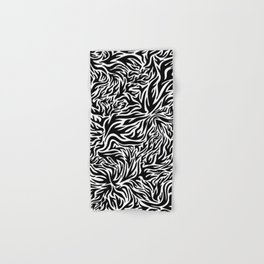 Black And White Psychedelic Flames Hand & Bath Towel