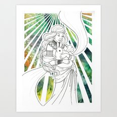 Timid Heart Art Print