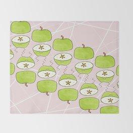 Apple Halves Throw Blanket