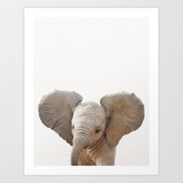 Baby Elephant, Baby Animals Art Prints by Synplus Art Print