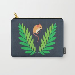 White-footed Mouse + Locust Tree Carry-All Pouch