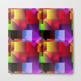 the square and the circle make up the pattern Metal Print