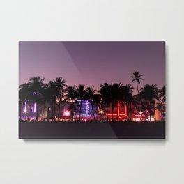 South Beach Night Metal Print