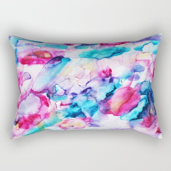 Colorful transparency || watercolor Rectangular Pillow
