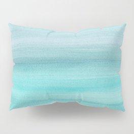 Aqua Blue Watercolor Dream #1 #painting #decor #art #society6 Pillow Sham