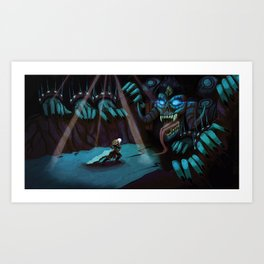 VS The Lich Art Print
