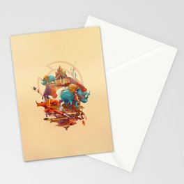 rhinos stone Stationery Cards