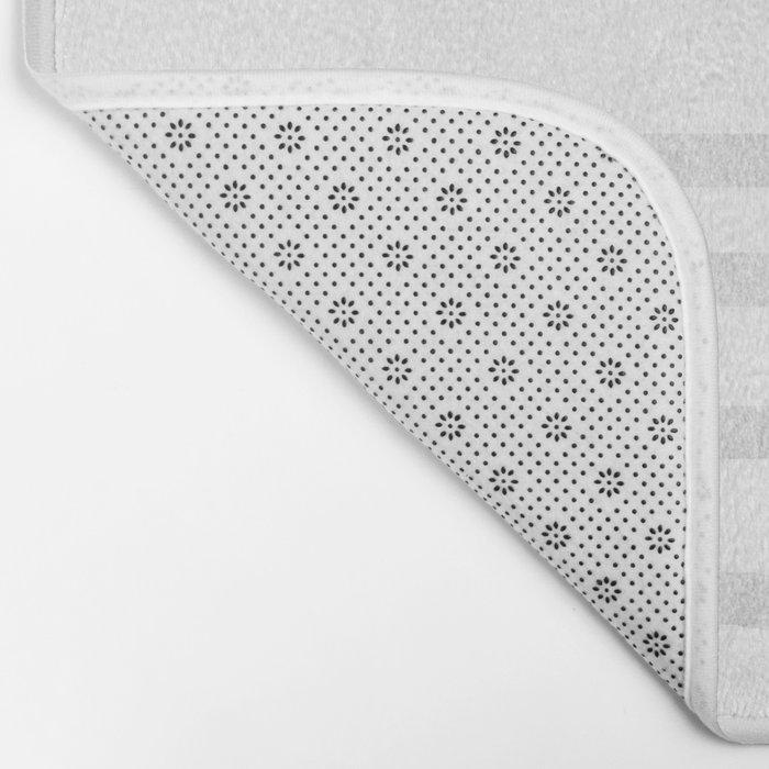 Simply Drawn Stripes Moonlight Silver Bath Mat