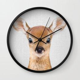 Baby Deer - Colorful Wall Clock