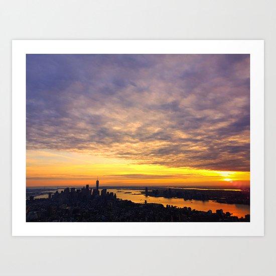 New York skyline Art Print