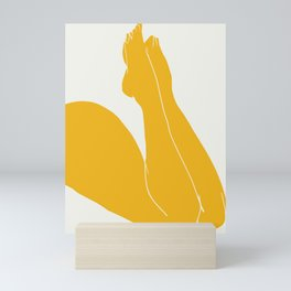 Nude in yellow 3 Mini Art Print