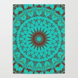 Mandala Fractal in Oxidized Copper 2 Poster