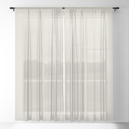 Off White - Navajo - Cream Solid Color Parable to September Fog 6003-1A by Valspar Sheer Curtain