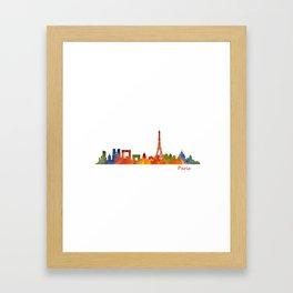 Paris City Skyline Hq v1 Framed Art Print