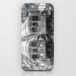 Black and White Chicago Train El Train above Wabash Ave the Loop Windy City iPhone Case