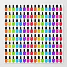 Nail Polish Rainbow Canvas Print
