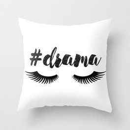 #Drama | Lashes Throw Pillow