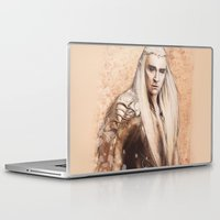 thranduil Laptop & iPad Skins featuring thranduil oropherion by LindaMarieAnson