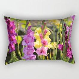Multi-Colored Gladiolus Rectangular Pillow