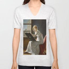 Bey Browsing the Interweb Unisex V-Neck