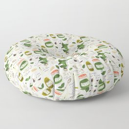 Pesto. Illustrated Recipe. Floor Pillow