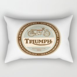triumph the best motorcycle in the world Rectangular Pillow