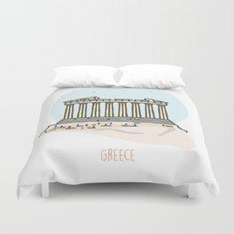 Greece - Acropolis Duvet Cover
