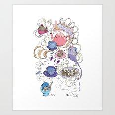 Little tea Art Print